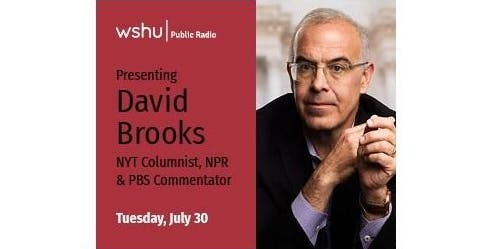 WSHU Presents David Brooks