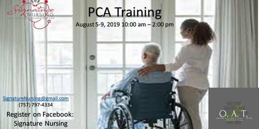 Personal Care Aide Training Class