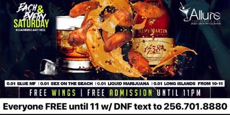 FREE WINGS & PENNY DRINKS THIS SATURDAY AT ALLURE tickets