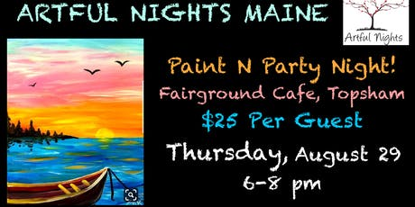 Paint n' Party Night at the Fairground Cafe in Topsham tickets