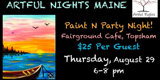 Paint n' Party Night at the Fairground Cafe in Topsham