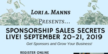 Sponsorship Sales Secrets Live 2019 tickets