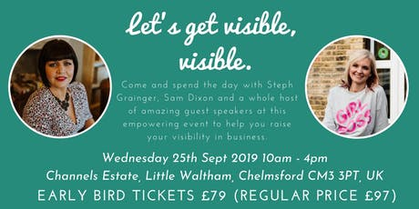 Let's get visible, visible.  Event with Sam Dixon & Steph Grainger tickets