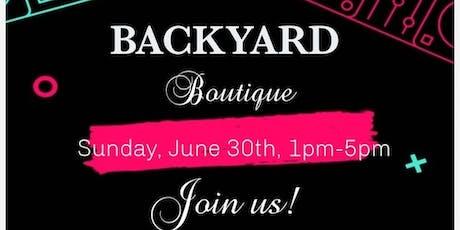 Backyard Boutique tickets