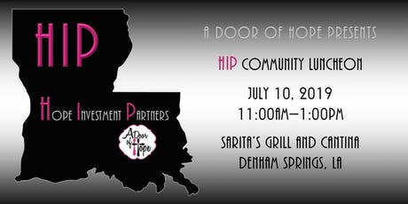 Networking Hope In The Community-HIP Luncheon July 2019 tickets
