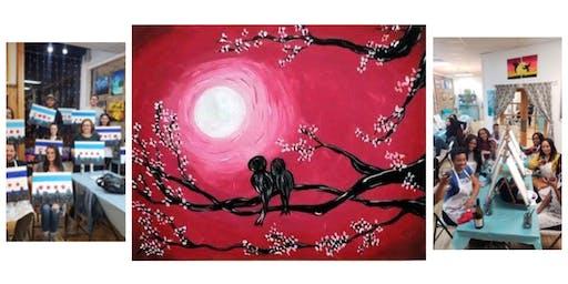 """BYOB Sip & Paint Event - """"Lovebirds"""""""