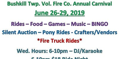Bushkill Twp. Vol. Fire Co. Carnival
