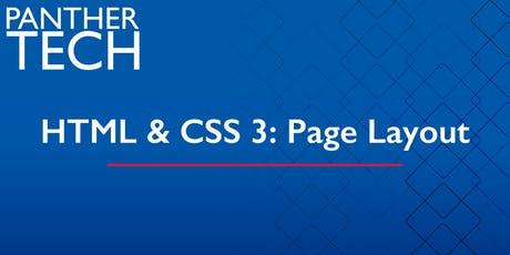 HTML & CSS 3:  Page Layout - Atlanta - Classroom South - Room 403/405 tickets