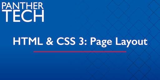 HTML & CSS 3:  Page Layout - Atlanta - Classroom South - Room 403/405