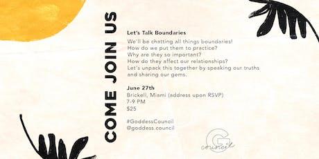 Goddess Council: Let's Talk Boundaries tickets
