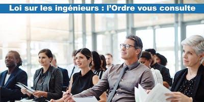 Consultation des membres – Loi sur les ingénieurs (Montréal)