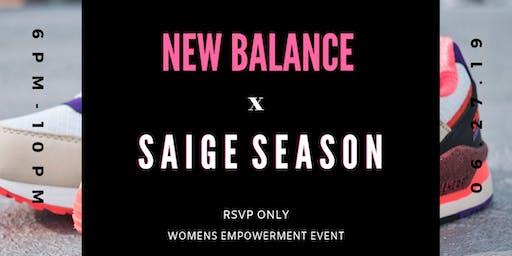 New Balance x Saige Season