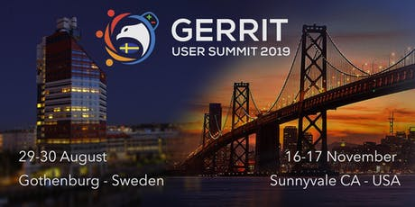 Gerrit User Summit 2019 tickets