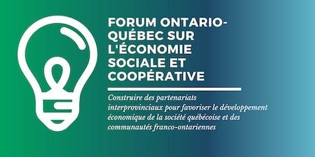 Forum Ontario-Québec sur l'économie sociale et coopérative billets