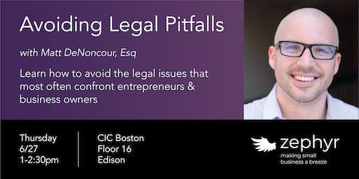 Avoiding Legal Pitfalls