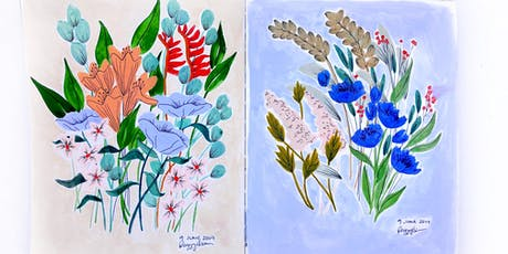 Gouache Florals tickets