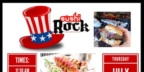 Sushi Rock - All You Can Eat Brunch (Fourth of July) tickets