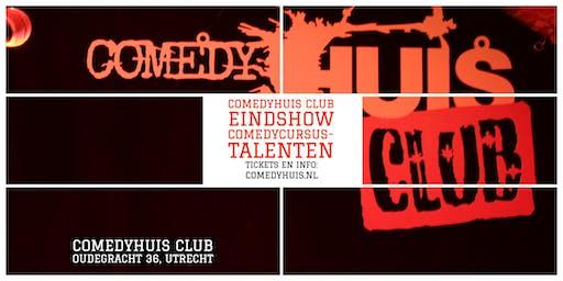 Comedyhuis Club - Eindshow Comedycursus - Grote Zaal