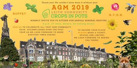 Leith Community Crops in Pots A.G.M. tickets