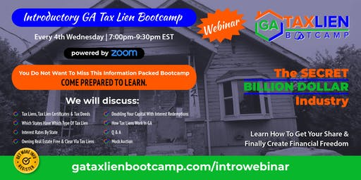 Introductory GA Tax Lien Bootcamp [WEBINAR]