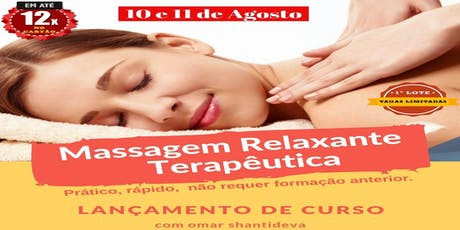 Massagem Relaxante Terapêutica ingressos