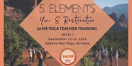 5 Elements Yin & Restorative Yoga Teacher Training - Level I tickets