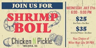 Shrimp Boil at Chicken N Pickle - Wichita
