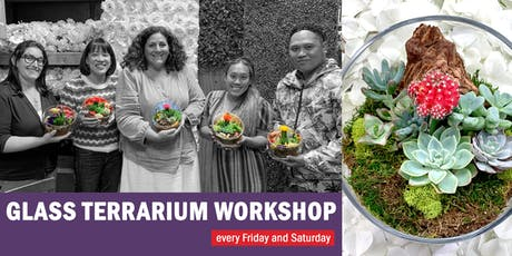 Glass Terrarium DIY Workshop: Celebrating 5 Years with special prices tickets