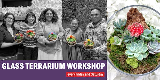 Glass Terrarium DIY Workshop: Celebrating 5 Years with special prices