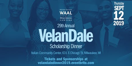 The 29th Annual VelanDale Scholarship Dinner tickets