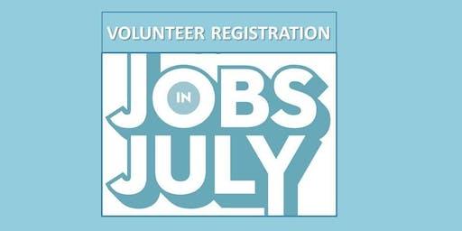 Volunteer Registration - 2019 Jobs in July