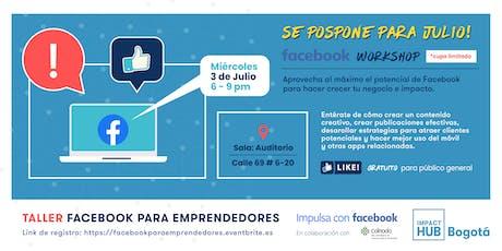 Facebook para Emprendedores boletos