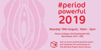 #PeriodPowerful 2019: Celebration of The Red Box Project North Devon