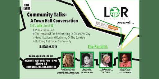 Community Talks: A Town Hall Conversation