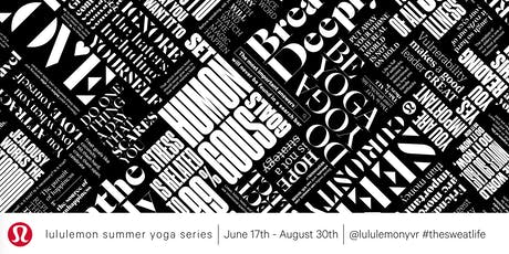 lululemon Summer Yoga Series tickets