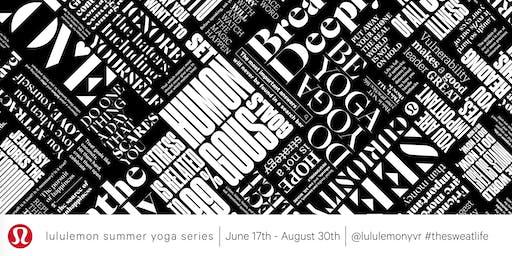 lululemon Summer Yoga Series