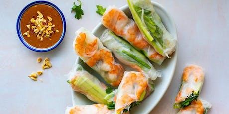Vietnamese-Style Summer Rolls with Peanut Sauce tickets