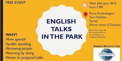 Public Speaking e Leadership - Incontro Toastmasters (in inglese)