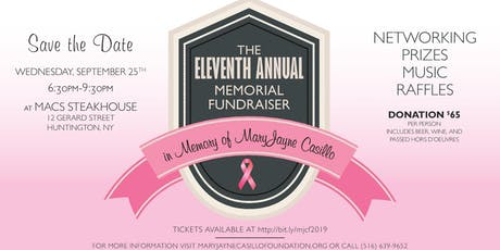 MaryJayne Casillo Foundation Eleventh Annual Fundraiser Honoring Michael J. Alber and Blessings for Bella tickets