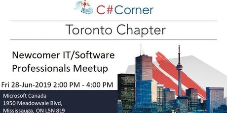 Newcomer IT/Software professionals Meetup tickets