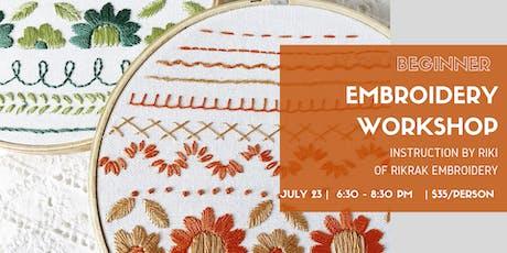 Beginner Embroidery Workshop tickets