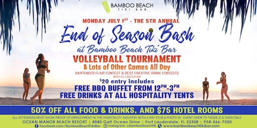 5th Annual End of Season Bash | Volleyball, BBQ, Games & More