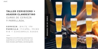 Curso de cerveza y parrillada de Taller Cervecero y Asador Clandestino