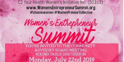 Women's Entrepreneur Summit Community Advisory Board Meeting - JULY