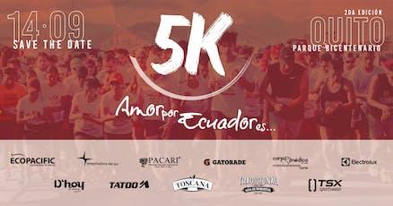 2da Edición Carrera Amor por Ecuador es...5k entradas