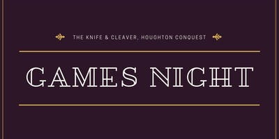 Games Night at the Knife & Cleaver