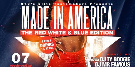 MADE IN AMERICA THE RED WHITE AN BLUE EDITION  tickets