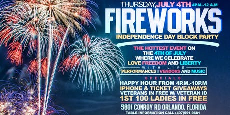 Fireworks  The block party  tickets