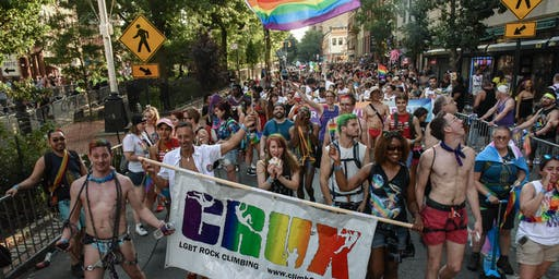CRUX LGBTQ Climbing - 2019 Pride March!