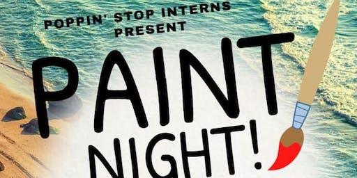 "POPpin Stop Interns Present ""Teen Paint Night"""